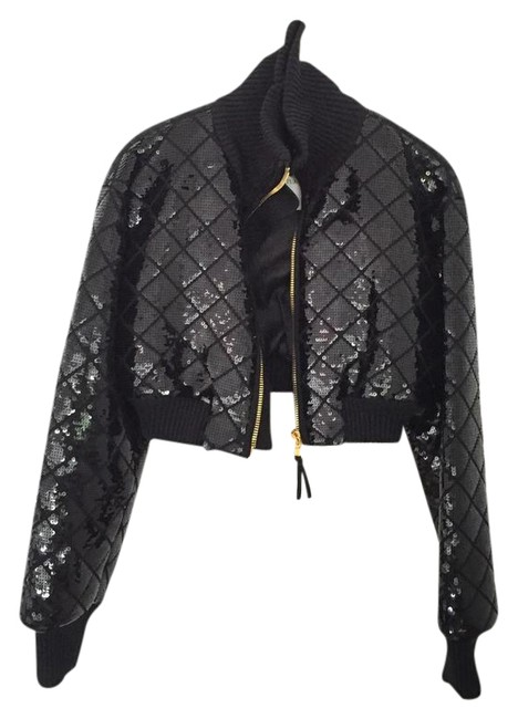 Preload https://img-static.tradesy.com/item/21576188/moschino-black-sequin-bomber-size-8-m-0-1-650-650.jpg