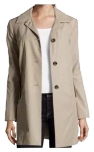 Cole Haan Tranch Single Breasted Jacket Trench Coat
