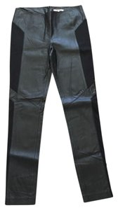 BB Dakota Leather Skinny Pants Black