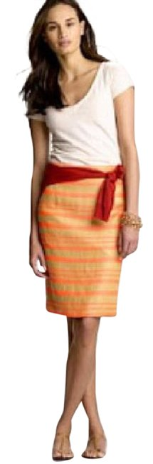 Preload https://item3.tradesy.com/images/jcrew-coral-collection-delfine-stiped-pencil-knee-length-skirt-size-4-s-27-21576362-0-1.jpg?width=400&height=650