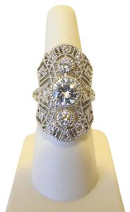 "Real Collectibles by Adrienne Real Collectibles by Adrienne ""Edwardian"" 4.95ctw Diamonite Ring"
