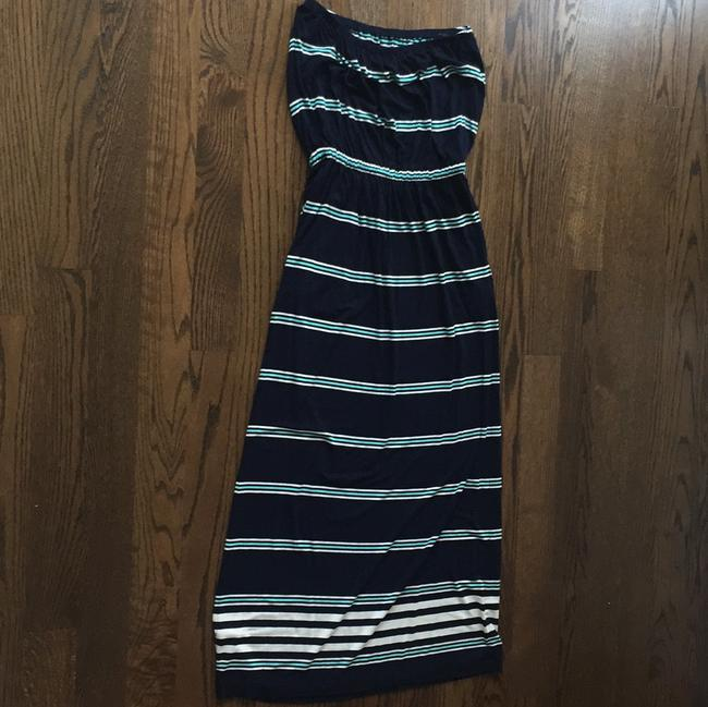 Navy and Blue Striped Maxi Dress by J.Crew
