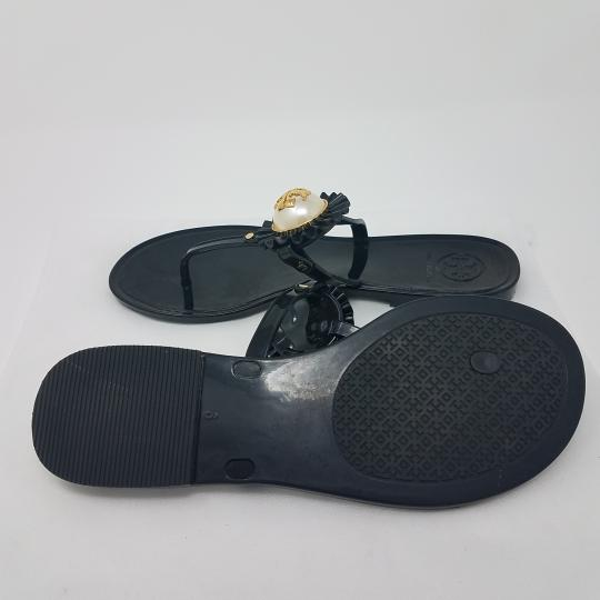 Tory Burch Hardware Jelly Miller Reva Pearl Black, White, Gold Sandals