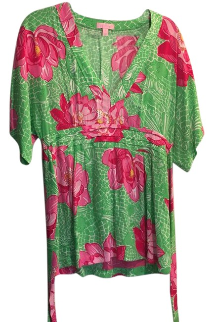 Preload https://item5.tradesy.com/images/lilly-pulitzer-hot-pink-and-green-88189-tunic-size-4-s-21576559-0-1.jpg?width=400&height=650