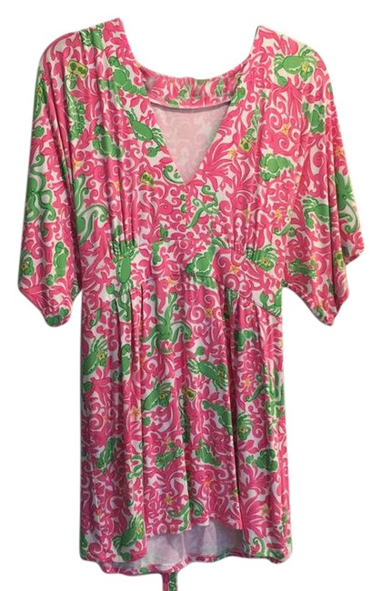 Preload https://item2.tradesy.com/images/lilly-pulitzer-hot-pink-white-and-green-88189-tunic-size-12-l-21576581-0-1.jpg?width=400&height=650