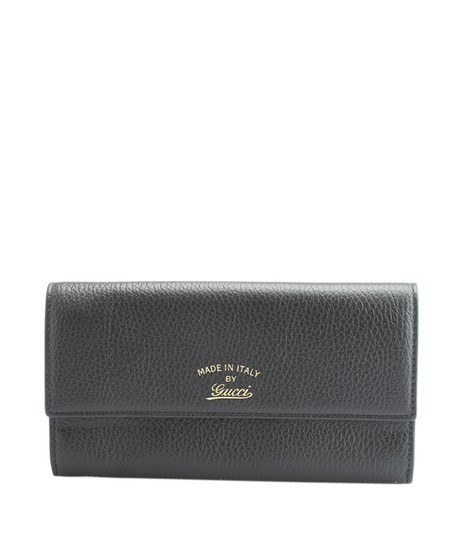 Gucci Gucci Swing Black Leather Snap Wallet (127206) ...