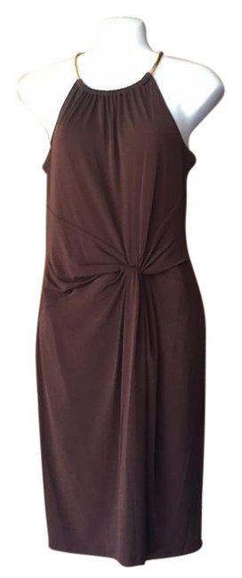 Preload https://item2.tradesy.com/images/michael-michael-kors-brown-by-mid-length-cocktail-dress-size-6-s-21576676-0-1.jpg?width=400&height=650