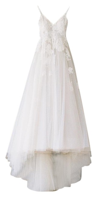 Item - Ivory/Nude Silk Tulle Chantilly Severine Lace & Gown Wedding Dress Size 2 (XS)