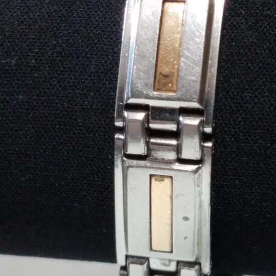 I.B. Goodman 8 1/4in Stainless Steel 14K Gold Inserts