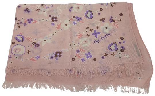 Preload https://item4.tradesy.com/images/louis-vuitton-pink-multicolor-white-lv-floral-cashmere-blend-shawl-scarfwrap-21576798-0-5.jpg?width=440&height=440