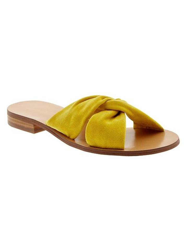31f90107a1f908 Banana Republic Yellow Karolina Suede-slide Sandals. Size  US 8.5 ...