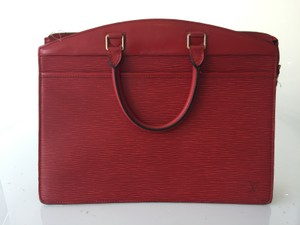 Louis Vuitton Riviera Epi Vintage Tote Satchel in Red
