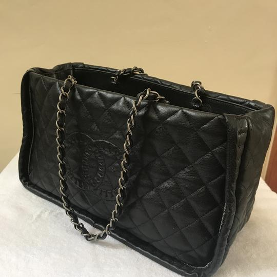 Chanel Istanbul Leather Tote in Black with Silver Hardware