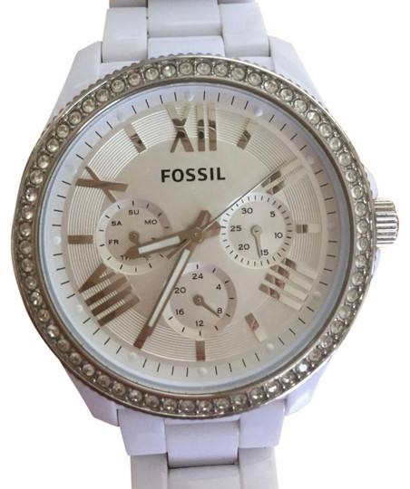 Preload https://item4.tradesy.com/images/fossil-white-women-s-cecile-chronograph-watch-21576968-0-1.jpg?width=440&height=440