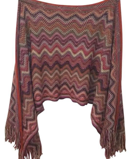 Preload https://item3.tradesy.com/images/missoni-pink-and-purple-capeponcho-ponchocape-size-os-one-size-21576977-0-1.jpg?width=400&height=650