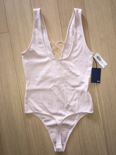 Aritzia Bodysuit Lace Up Lacey Sexy Top Nude