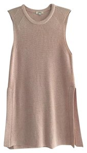 Aritzia Wilfred Splitside Tunic Top Pink
