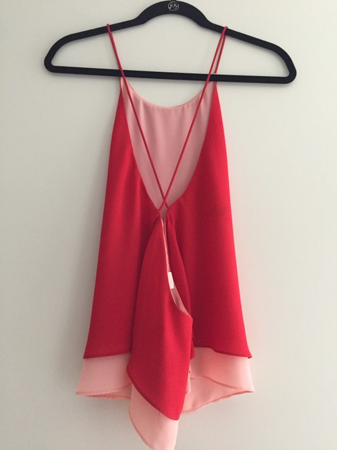 Zara Crossback Strappy Date Top Red Pink