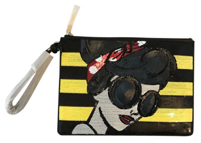 Item - Stace Face Large Zip Pauch With Multicolor Poly Wristlet