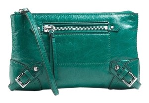 Michael Kors Wristlet Leather Aqua Clutch