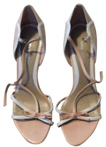 Nine West Tan / White Pumps