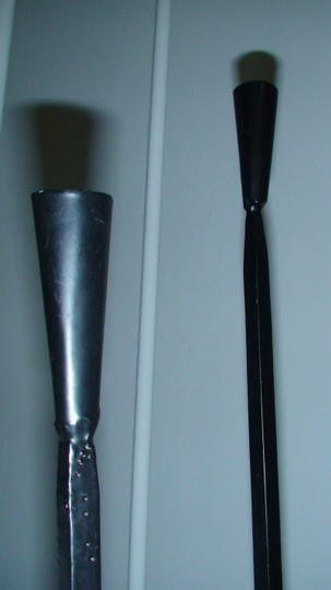 "Pottery Barn Wrought Iron Pottery Barn Candle Pillars 18"" tall"