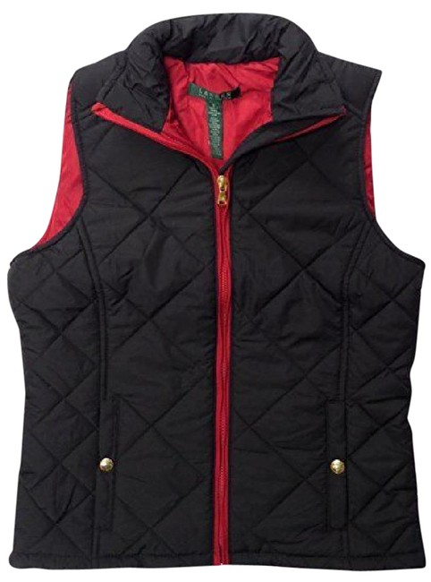 Item - Black and Red Quilted Insulated Vest Size 4 (S)