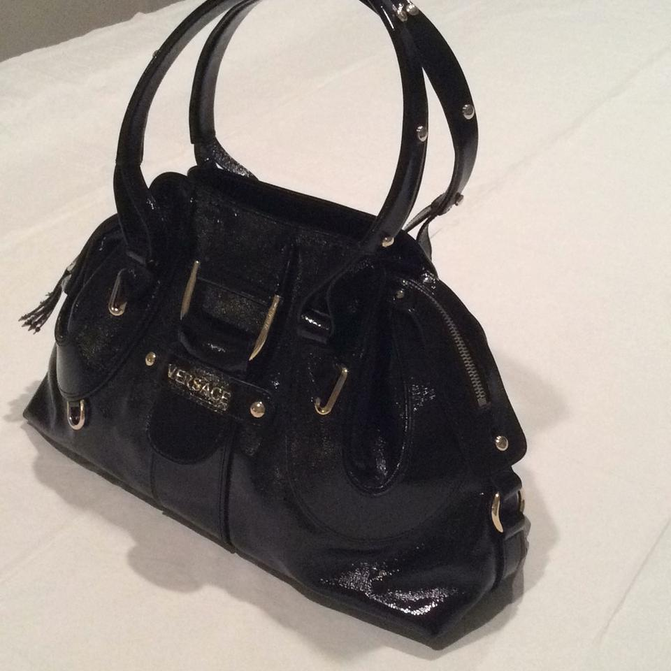1c5f66ff1560 Versace 563580310093 Black Gold Leather Hobo Bag - Tradesy