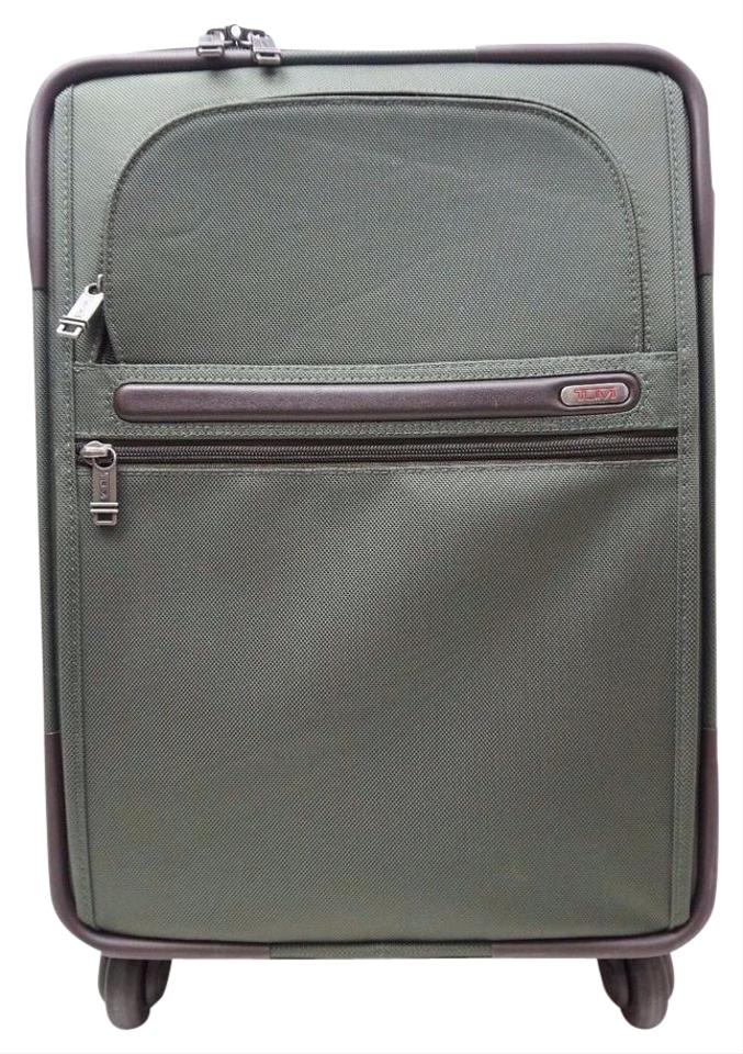 14660f2c40 Tumi Alpha 2 International Zip Expandable Carry-on 4 Wheeled 22060 22 Green  Nylon Weekend Travel Bag