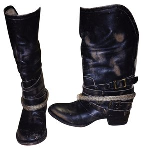 Steve Madden Black and Brown Boots
