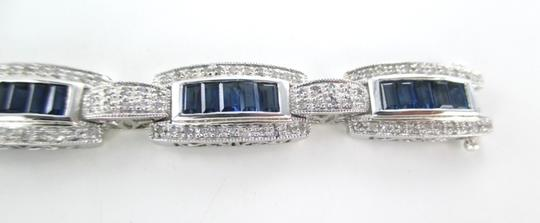 Other 14KT SOLID WHITE GOLD BRACELET 168 DIAMONDS 1.68 CARAT BANGLE SAPPHIRES JEWELRY