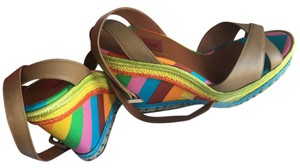 Valentino Multicolor 1973 2015 Rainbow taupe Wedges