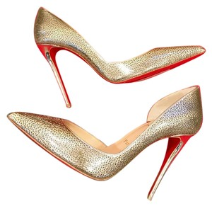 24a358859e4 Women s Gold Christian Louboutin Shoes - Up to 90% off at Tradesy