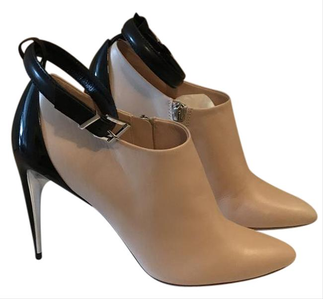 Item - Nude Black Leather with Ankle Strap 37 (Us 7) Boots/Booties Size US 7 Regular (M, B)