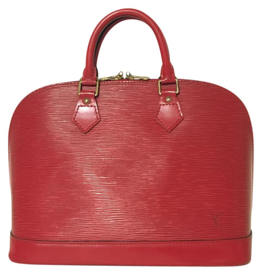 f6585828bdf Louis Vuitton Alma Pm Red Epi Tote - Tradesy