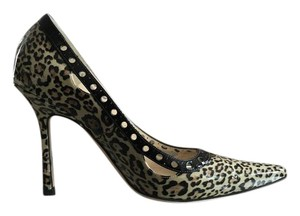 Jimmy Choo Patent Leather Leopard Print Pumps