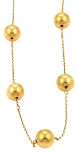 Roberto Coin 18194 - Roberto Coin Pallini 18k Yellow Gold 10mm Ball Chain Necklace