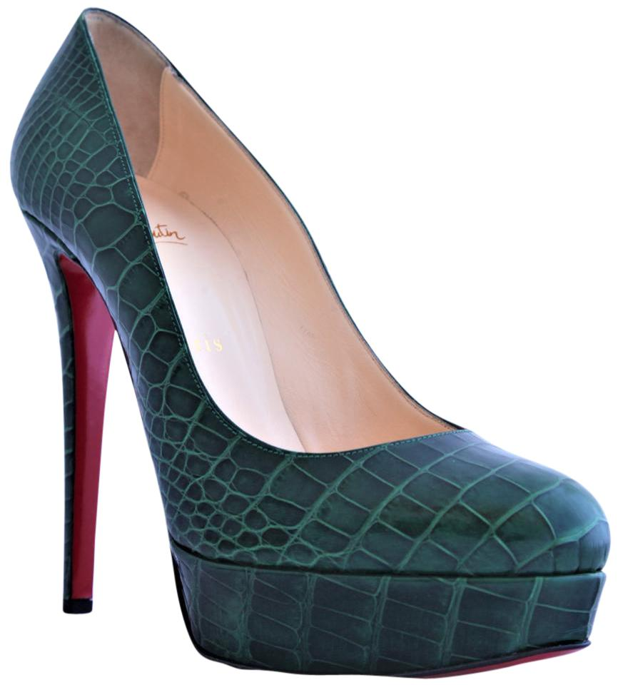 big sale 843d1 9af24 Christian Louboutin Green New 40.5it Bianca Crocodile Platform High Heel  Red Sole Lady Fashion Pumps Size EU 40.5 (Approx. US 10.5) Regular (M, B)  89% ...