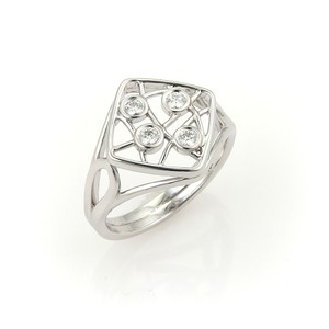 Hearts on Fire 12412 - Hearts On Fire 18k White Gold Diamonds Open Design Ring
