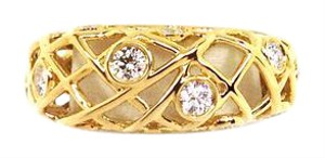 Hearts on Fire 12912 - Hearts On Fire Diamond Brocade 18k Yellow Gold Band Ring