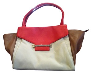 Vince Camuto Satchel in tan..cream..red/orange