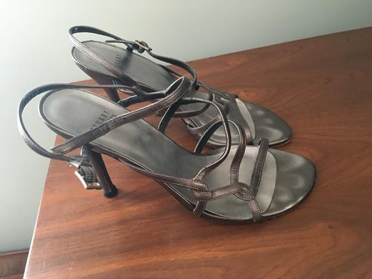 Stuart Weitzman silver/charcoal grey Sandals