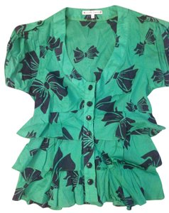 Nanette Lepore Button Down Shirt Green