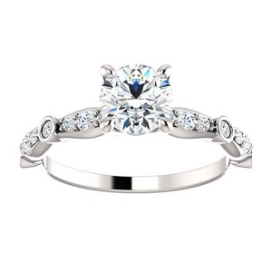 14 K White Gold 1.9 Tcw D Si1 Round Solitaire 2.90 Gr. Kt Engagement Ring
