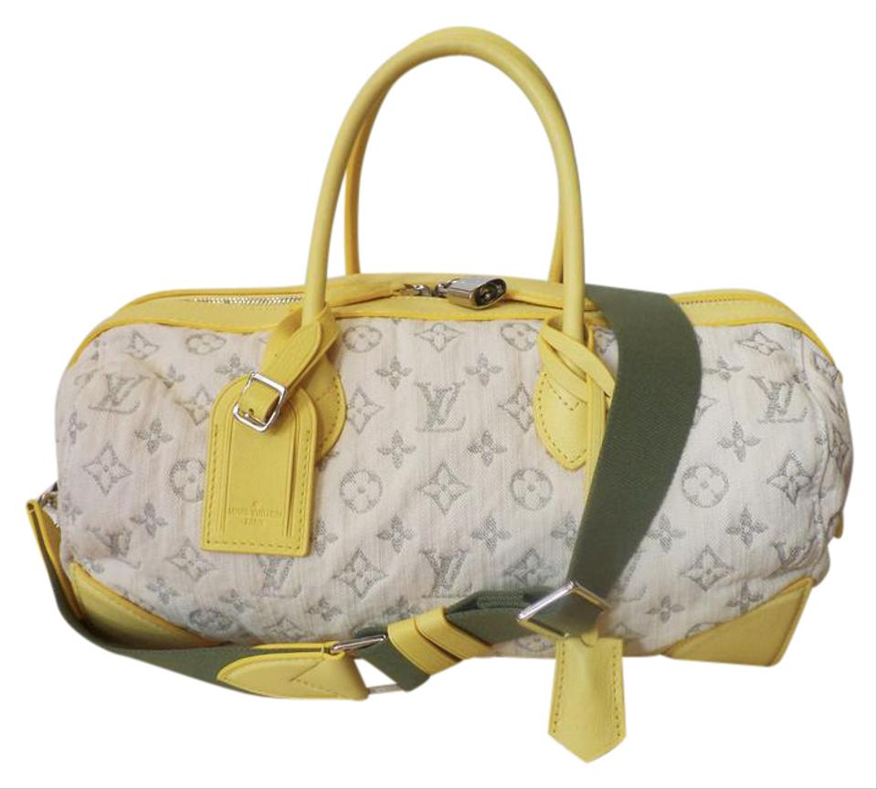 6fc7cf1d593e Louis Vuitton Speedy Limited Edition Monogram Round Mm Jaune Denim Satchel