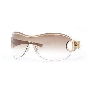 90c6ef04810 Gucci Gucci Large Rimless Gold   Gradient Horsebit Crystal Brown Bumble Bee  Sunglasses