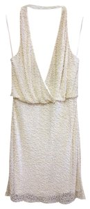 Aidan Mattox Fully Beaded White Dress