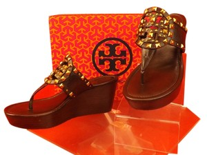 Tory Burch brown / cocnut Wedges
