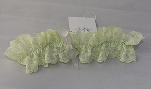 Lisa Nieves Light Green Lace Garter
