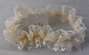 Lisa Nieves Light Peach Color Lace Garter